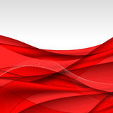 Abstract red waves - data stream concept. Vector illustration Royalty Free Stock Image