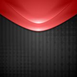 Abstract red waves design. Tech background Royalty Free Stock Images