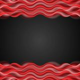 Abstract red wavy dark background Royalty Free Stock Image