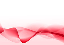 Abstract red wavy lines Royalty Free Stock Photos