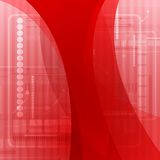 Abstract red wavy tech background Royalty Free Stock Photography