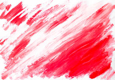 Abstract red white background painted watercolor Royalty Free Stock Image