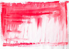 Abstract red white background painted watercolor Stock Photo