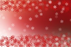 Abstract red and white christmas background with snow flakes fra Royalty Free Stock Image