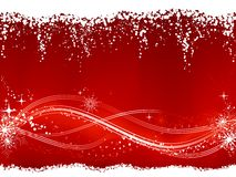 Abstract red white Christmas, winter background Royalty Free Stock Photos
