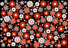 Abstract red and white flowers background Royalty Free Stock Photos