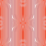 Abstract red and white seamless background with symmetric line patterns in optical art style. Vector EPS 10 stock illustration
