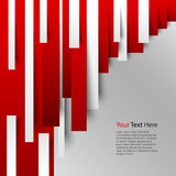 Abstract red white stripes on background. Vector eps 10 Royalty Free Stock Photo