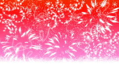 Abstract red winter background Stock Image