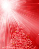 Abstract red winter Christmas background Stock Photos