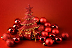 Abstract Red Xmas Stock Photo