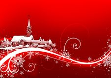 Abstract red xmas stock illustration