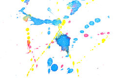 Abstract red yellow blue ink splash Royalty Free Stock Photos