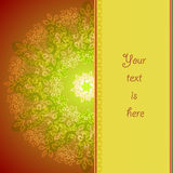 Abstract red-yellow frame Stock Image