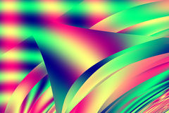 Abstract red yellow and green cubist illusion shapes Stock Photos