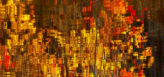 Abstract Red Yellow Leaves Reflection Stock Images