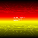 Abstract red and yellow line geometric polygonal background Stock Image