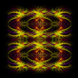 Abstract red and yellow symetrical fractal backgro Stock Image
