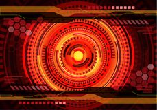 Abstract red yellow technology digital power energy system design modern futuristic background vector royalty free illustration
