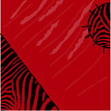 Abstract red zebra vector background. Textile Grunge style Stock Images