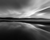 Abstract reflection in black and white Royalty Free Stock Photos