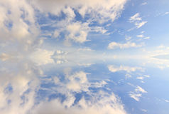 Abstract reflection of clouds and blue sky Royalty Free Stock Images