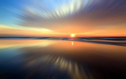 Abstract reflection of colorful sunset. For background Royalty Free Stock Photos