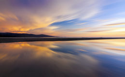 Abstract reflection of colorful sunset. For background Stock Image