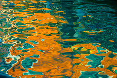 Abstract reflection of colorful venice building on canal Stock Image