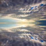 Abstract reflection of dramatic sky Stock Photos