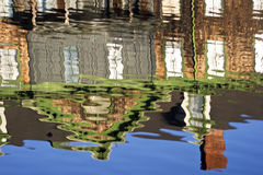 Abstract Reflection of a house. Reflection of  a house in the river Stock Images