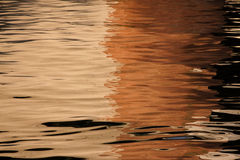 Abstract reflection on water Royalty Free Stock Photography