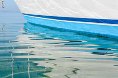 Abstract reflections of boats Stock Photography
