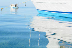 Abstract reflections of boats Royalty Free Stock Photography