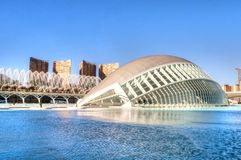 Abstract reflections, Hemisferic in the city of Arts and Sciences, Valencia Royalty Free Stock Photography