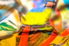 Abstract Reflections In Rainbow Tones royalty free stock photo