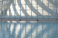 Abstract reflections in the water, city of Arts and Sciences, Valencia Royalty Free Stock Image