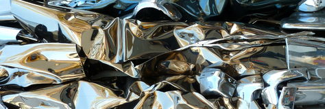 Abstract reflective backgound. A shiny reflective metal backgroun Stock Photography