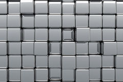 Abstract Reflective Chrome Boxes Royalty Free Stock Photography