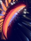 Abstract reflective shiny plastic shape 3d rendering Royalty Free Stock Photo