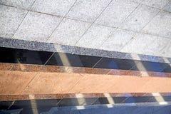 Abstract  reflex       pavement cross stone step     the    temp Stock Image
