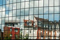 Abstract reflexion. On modern building Stock Photos