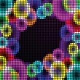 Abstract regenboogmozaïek stock illustratie