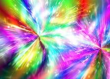 Abstract regenboogvuurwerk als achtergrond, vuurwerk, vakantie, disco stock illustratie