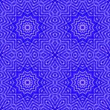 Abstract regular star pattern dark blue purple Stock Photography