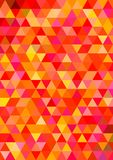 Abstract triangle mosaic background design. Abstract regular triangle mosaic background design in warm colors Stock Image