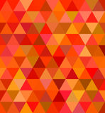 Abstract regular triangle tile mosaic background. In red tones vector illustration