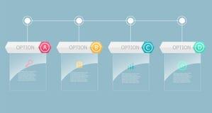 Abstract rekstok infographic element vector illustratie