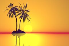 Abstract relax island. Stock Photos