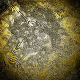Abstract relief texture on golden background. Illustration Royalty Free Stock Photography